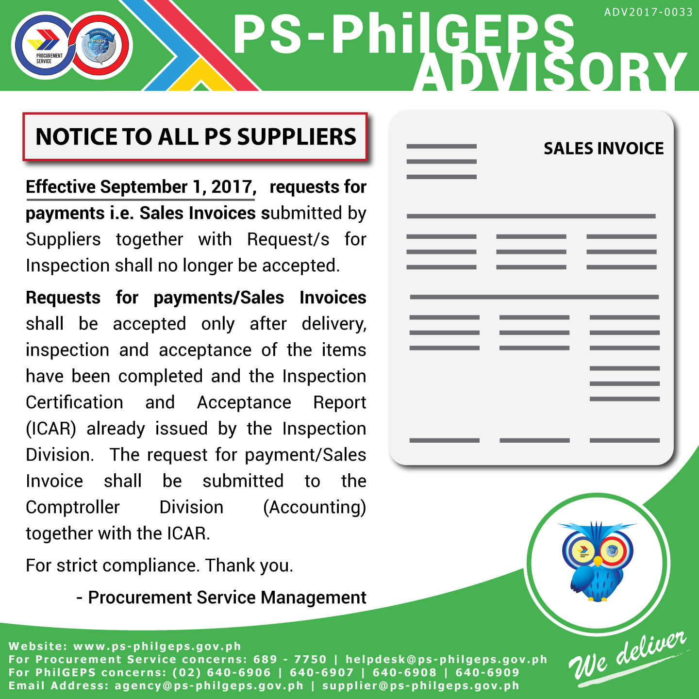 Procurement service notice to all suppliers 1betcityfo Gallery